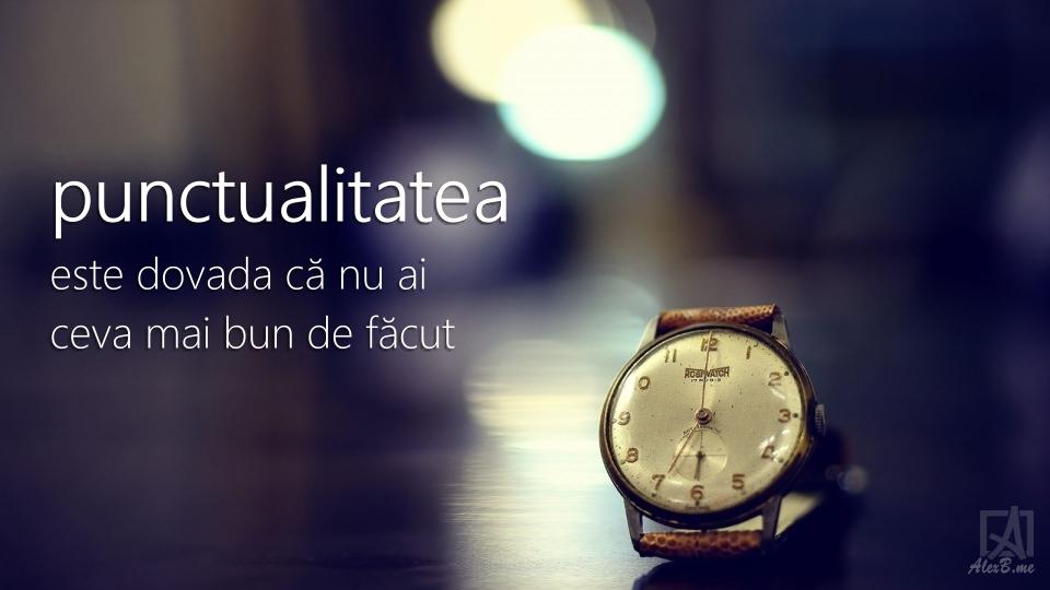 punctualitatea